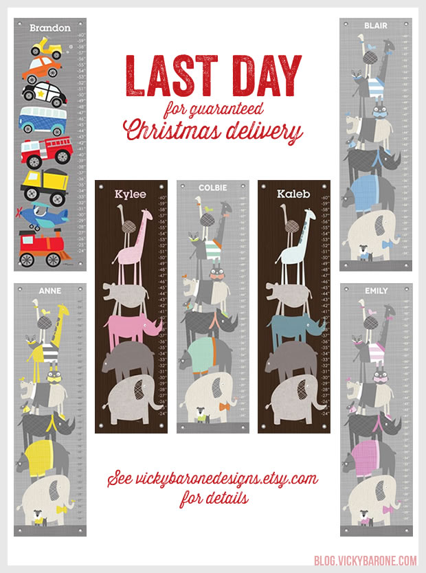 Last Day for Guaranteed Christmas Delivery on Select Growth Charts
