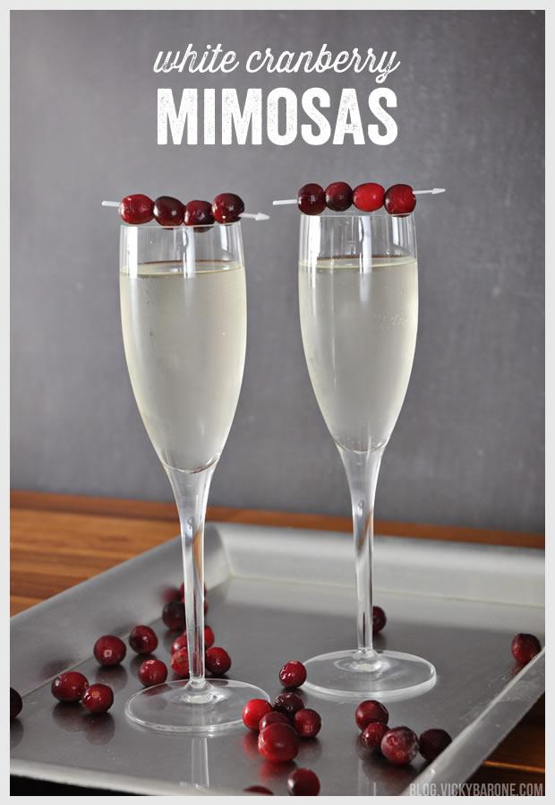 White Cranberry Mimosas