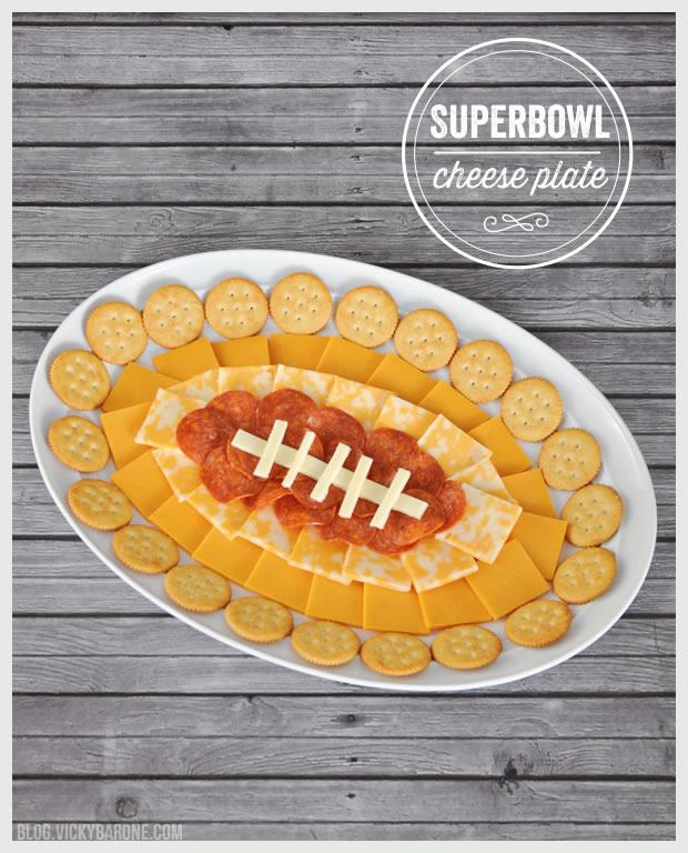 Football-Shaped Superbowl Food