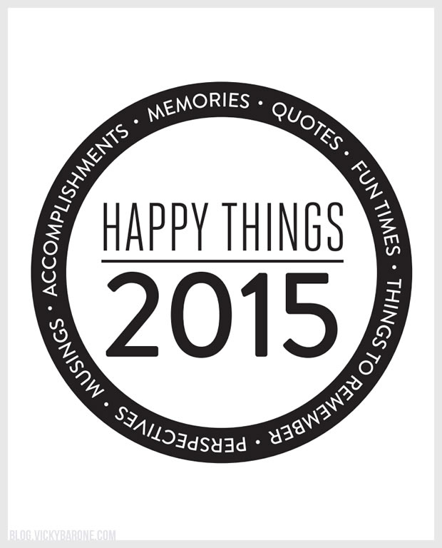 Happy Things Memory Jar 2015