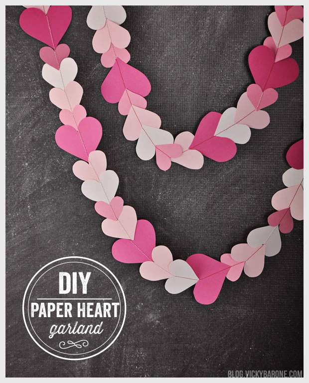 DIY Paper Heart Garland + A Free Printable