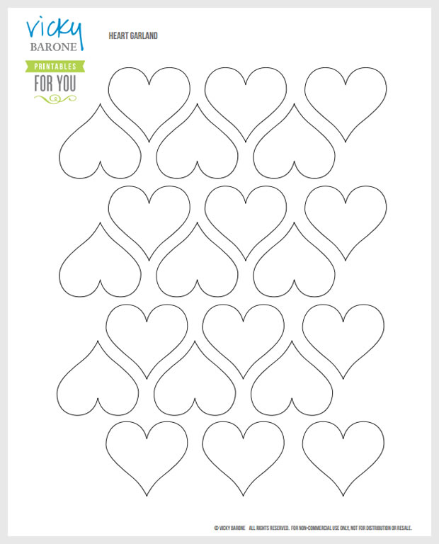 FREE PRINTABLE Heart Template | Vicky Barone