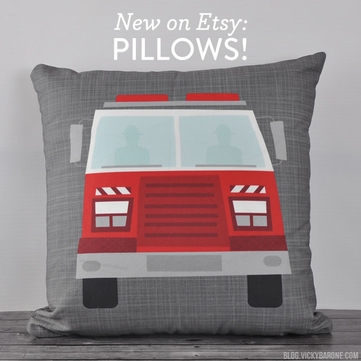 New on Etsy: Reversible Throw Pillows!