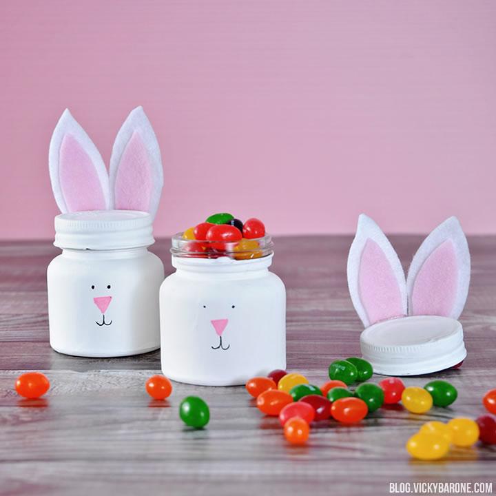 DIY Bunny Jars | Vicky Barone
