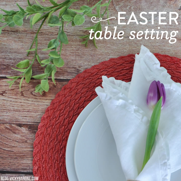 Easter Table Setting 2015