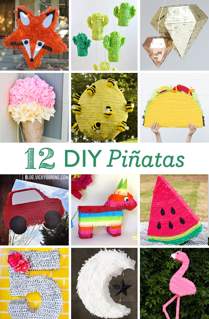 12 DIY Pinatas | Vicky Barone