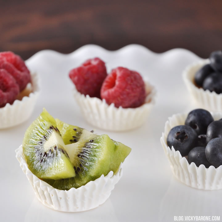 White Chocolate Fruit Cups | Vicky Barone