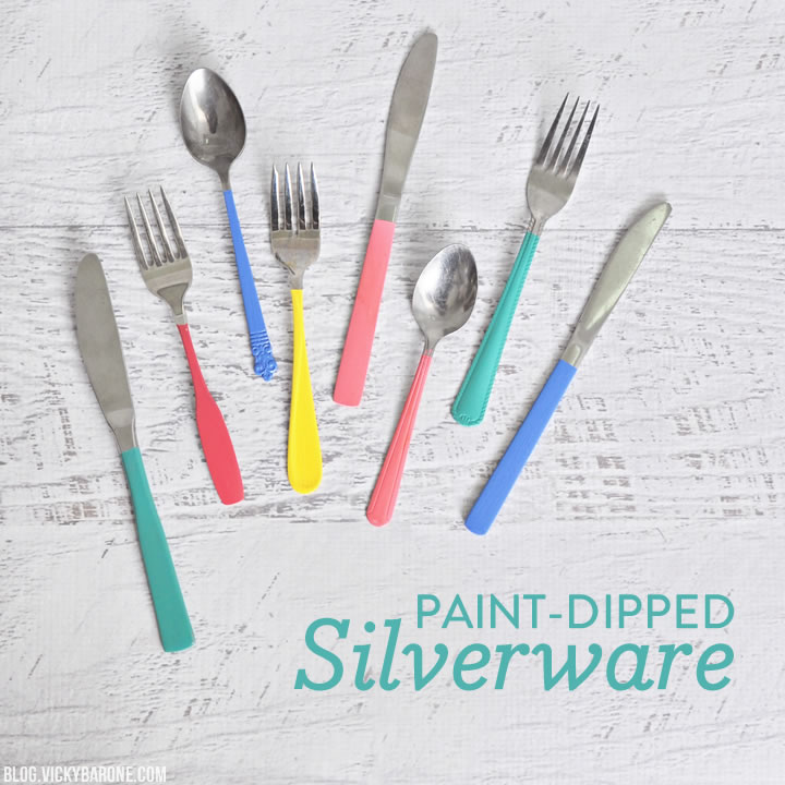 Paint-Dipped Silverware