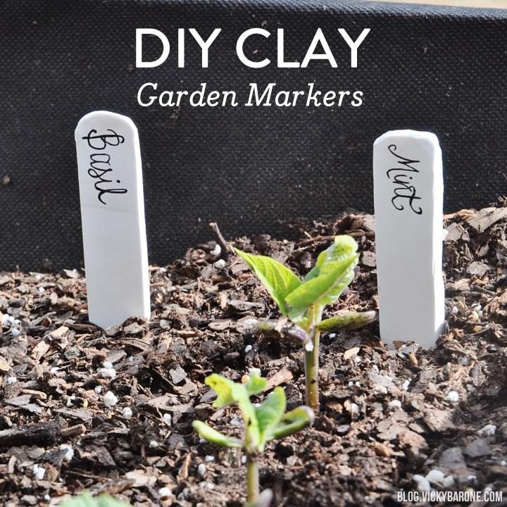 DIY Clay Garden Markers