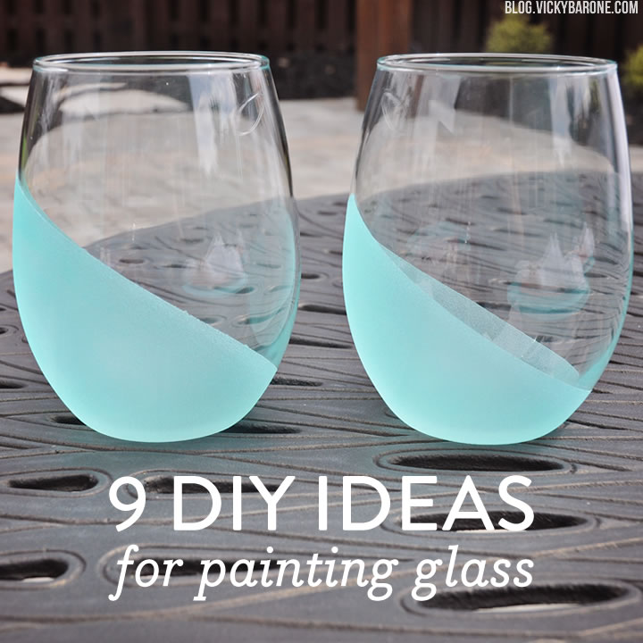 9 DIY Ideas for Painting Glass