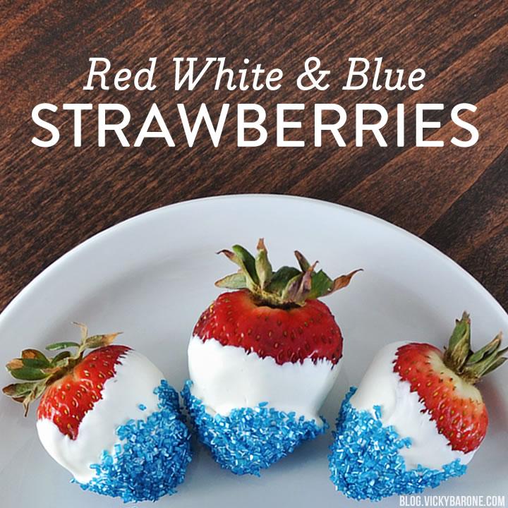 Red White & Blue Strawberries