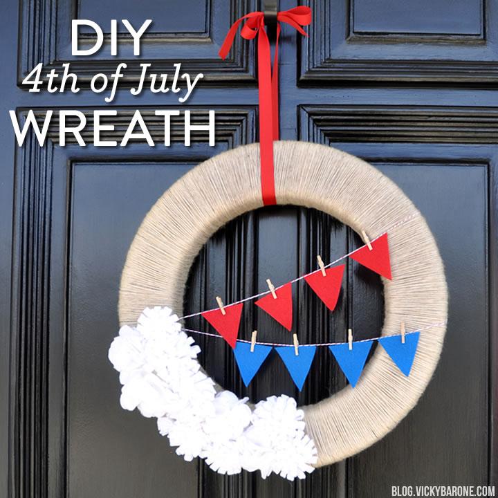 DIY 4th of July Wreath