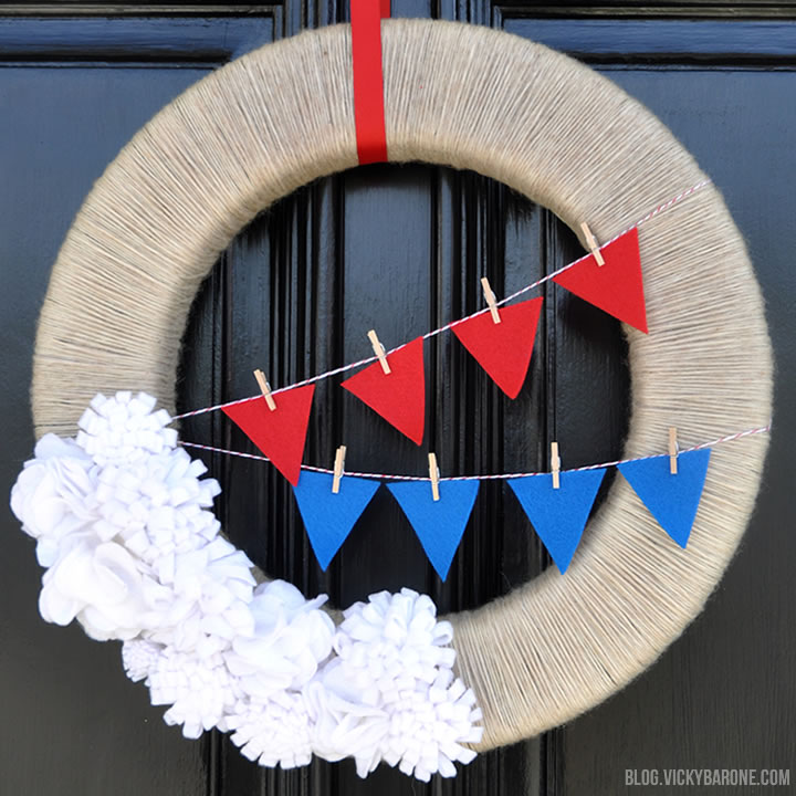DIY 4th of July Wreath   Vicky Barone