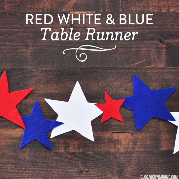 Red White & Blue Table Runner