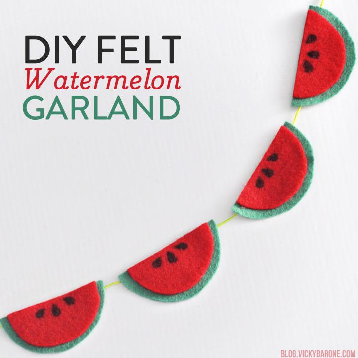 DIY Felt Watermelon Garland