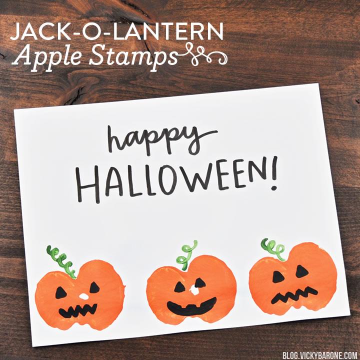 Jack-o-Lantern Apple Stamps