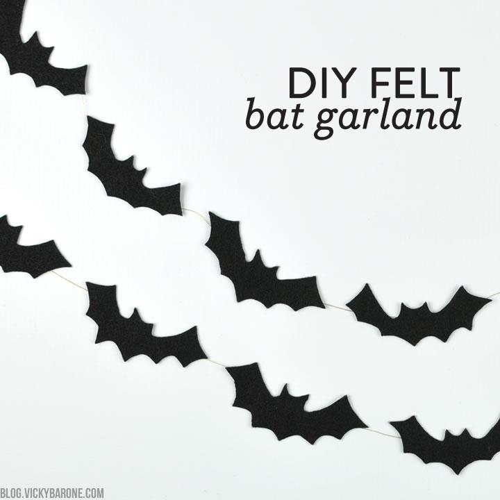 DIY No-Sew Felt Bat Garland