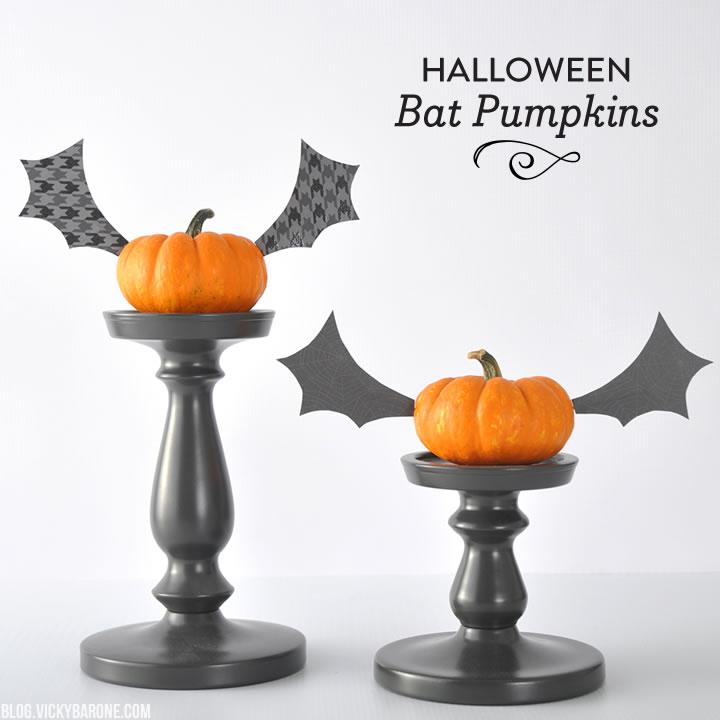 Halloween Bat Pumpkins