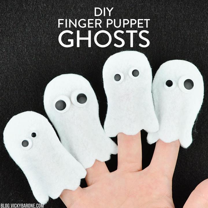 DIY Finger Puppet Ghosts