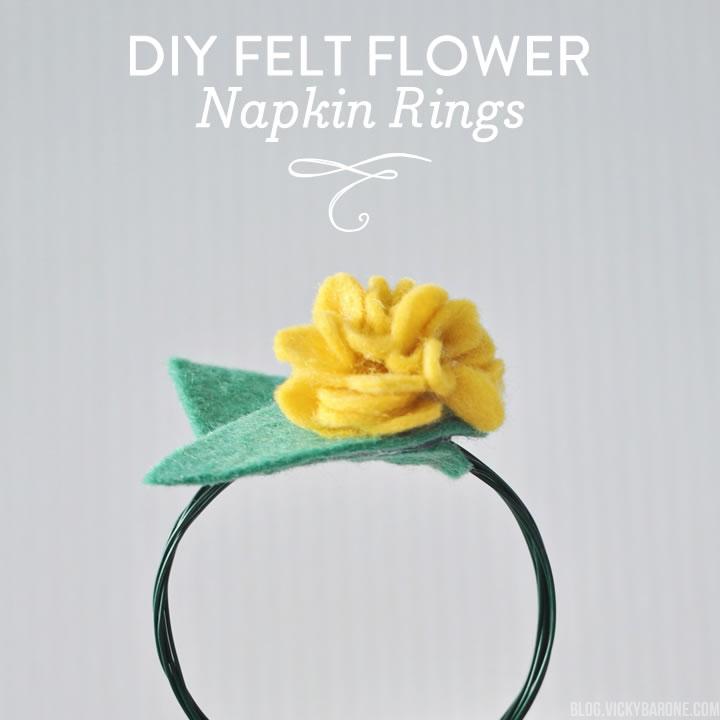 DIY Felt Flower Napkin Rings