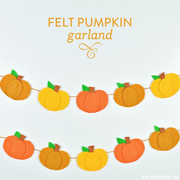No-Sew Felt Pumpkin Garland