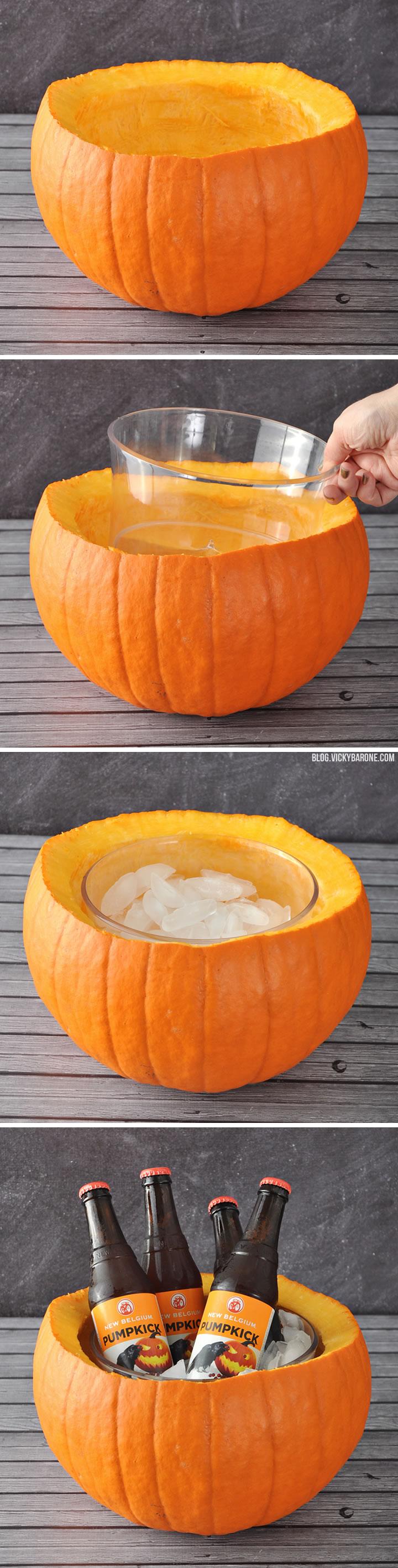 Pumpkin Ice Bucket | Halloween Party Ideas | Vicky Barone