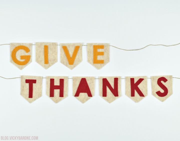 DIY No-Sew Give Thanks Garland | Vicky Barone