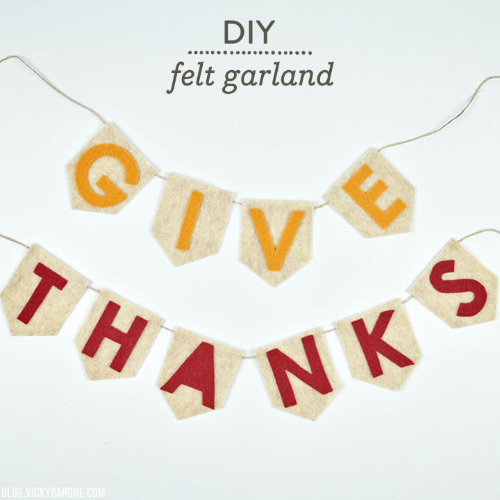 DIY No-Sew Felt Thanksgiving Garland