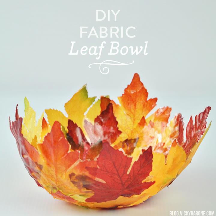 DIY Fabric Leaf Bowl