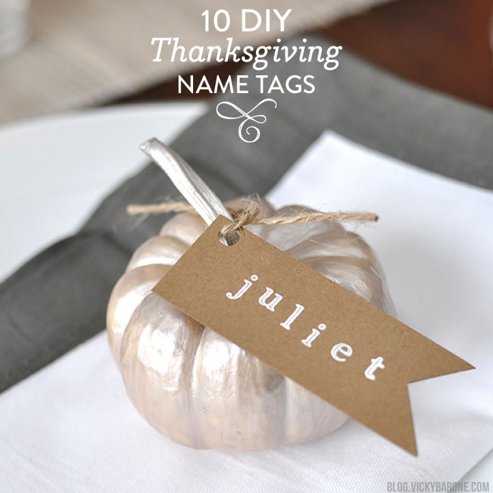 10 DIY Thanksgiving Name Tags