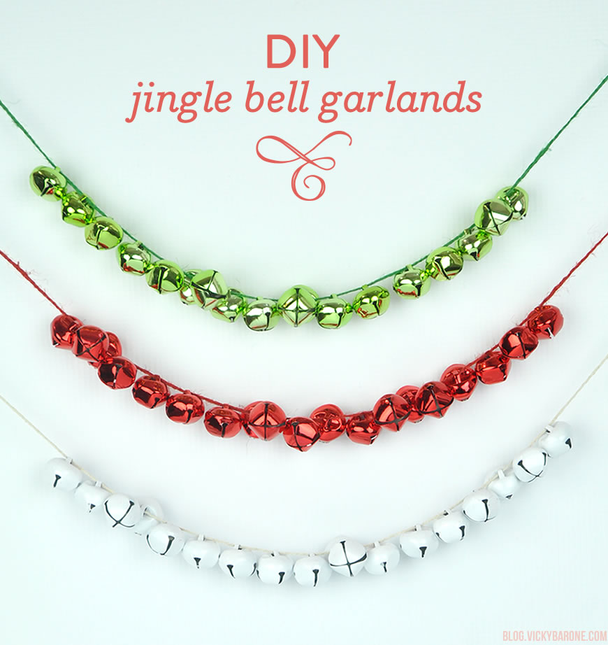 DIY Jingle Bell Garlands