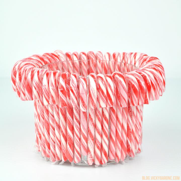 DIY Candy Cane Vase | Vicky Barone