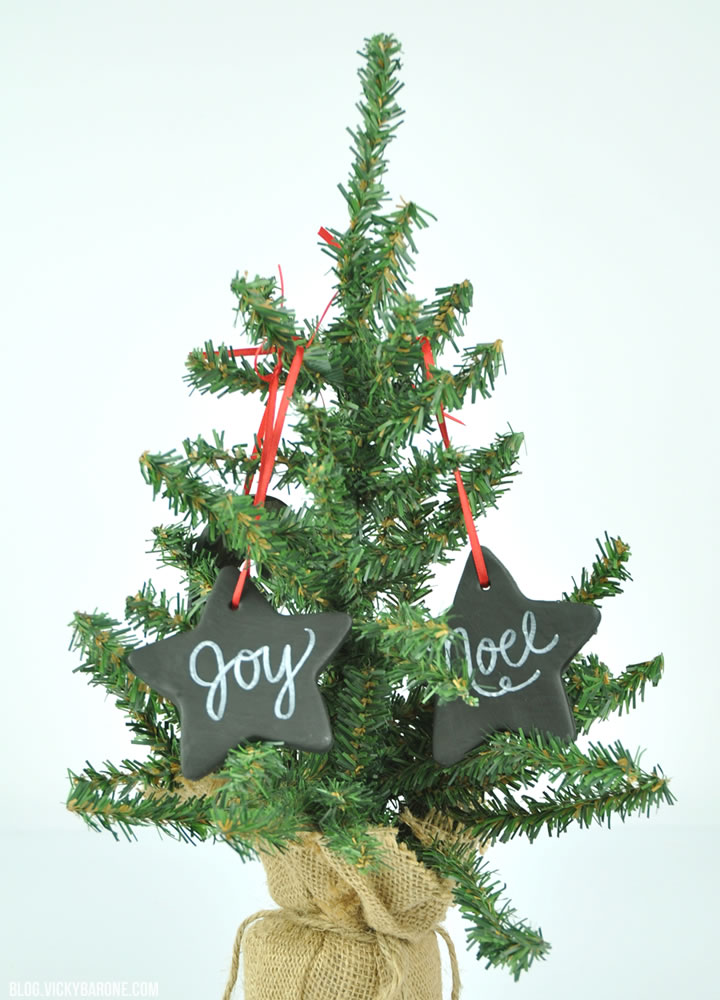DIY Chalkboard Ornaments | Vicky Barone