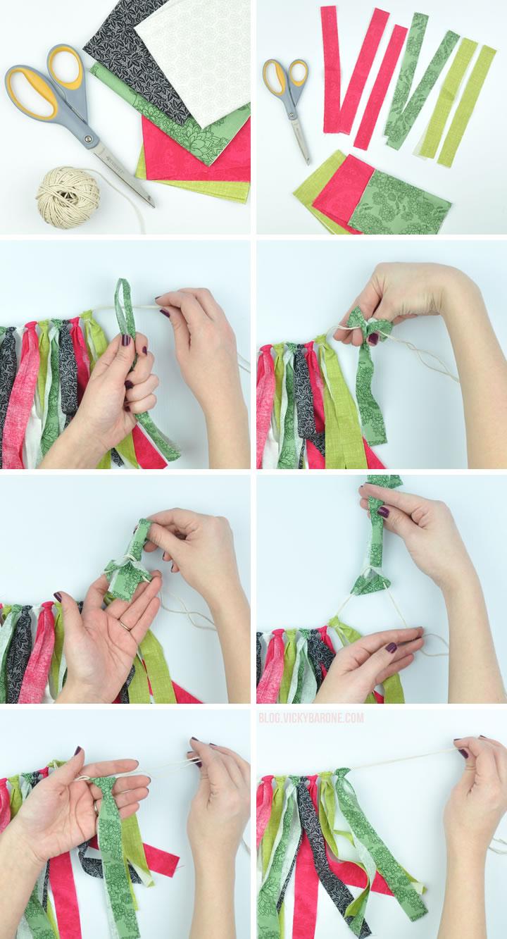 DIY Fabric Scrap Garland | Vicky Barone