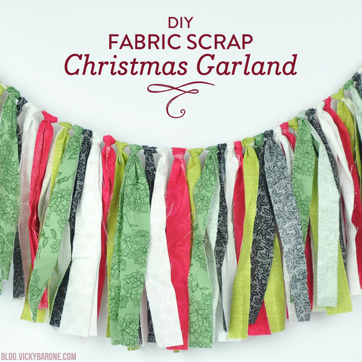 DIY Fabric Scrap Christmas Garland