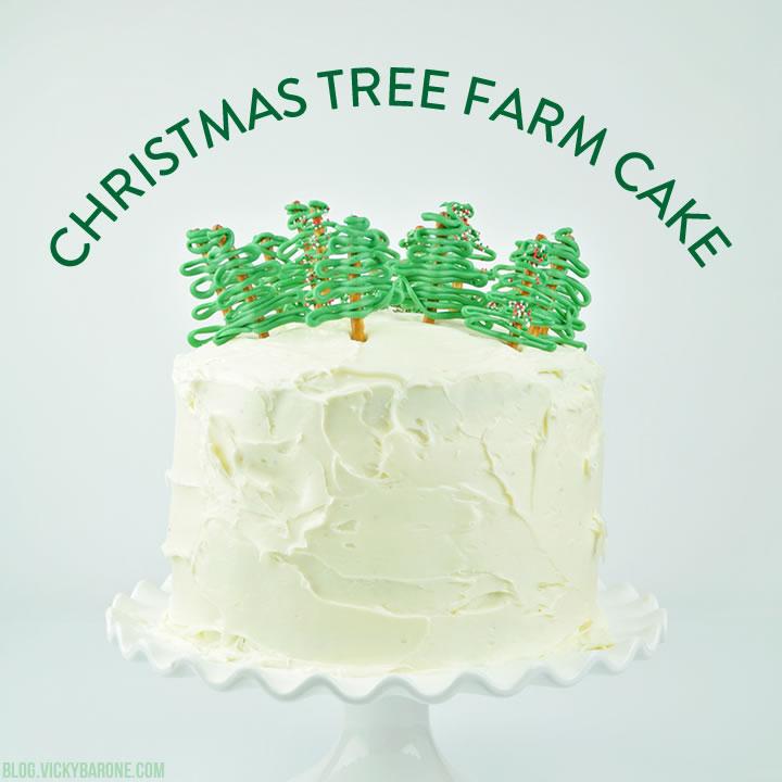 Christmas Tree Farm Cake