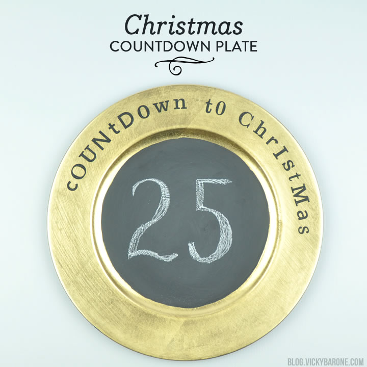 DIY Christmas Countdown Plate