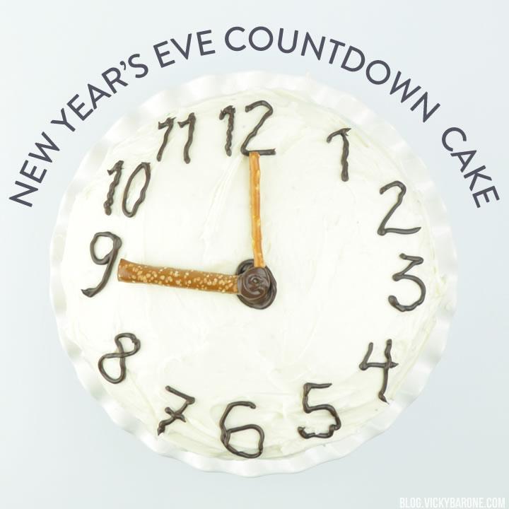 New Year's Eve Countdown Cake