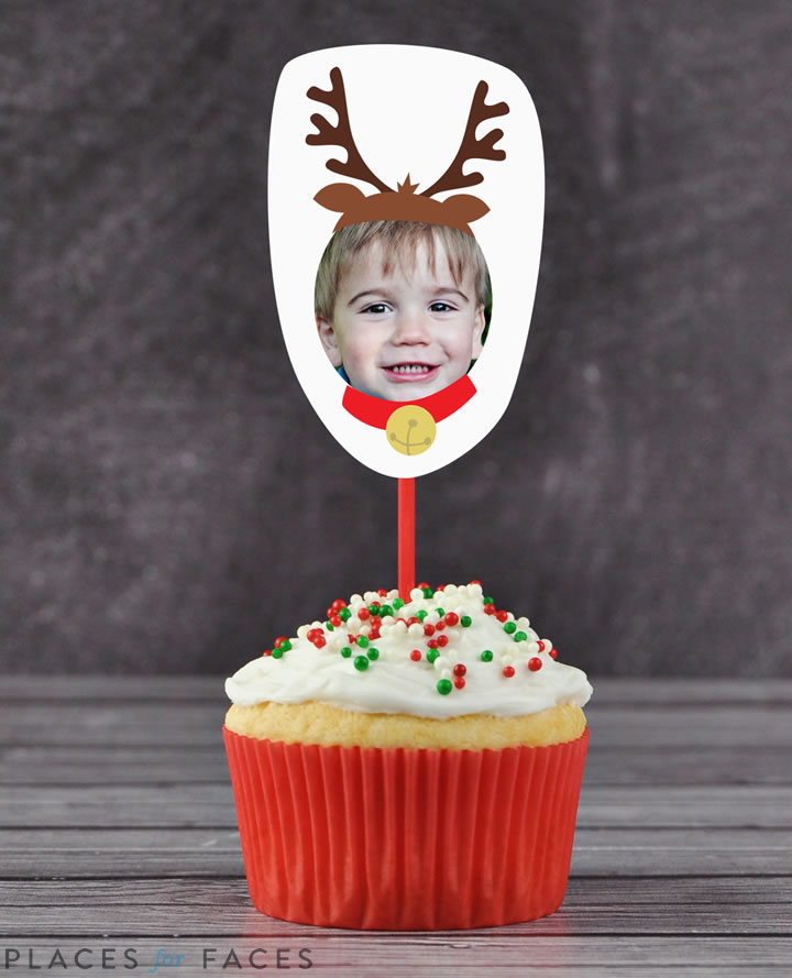 Personalize Your Christmas with Places for Faces   Vicky Barone   custom cupcake toppers