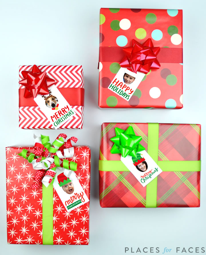Personalize Your Christmas with Places for Faces   Vicky Barone   Custom gift tags