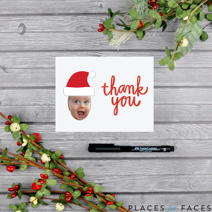Personalize Your Christmas with Places for Faces   Vicky Barone   custom printable thank you notes