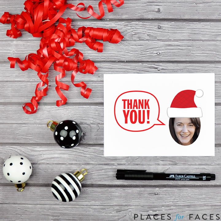 Personalize Your Christmas with Places for Faces   Vicky Barone   custom printable thank you cards