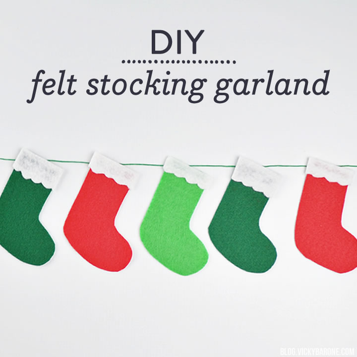 DIY Felt Stocking Garland