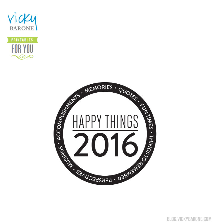 Happy Things Memory Jar 2016 Printable | Vicky Barone