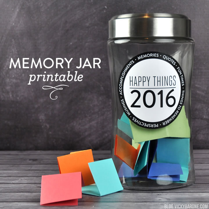 Happy Things Memory Jar 2016