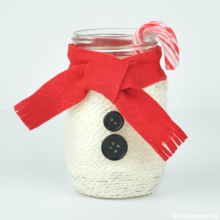 DIY Snowman Mason Jar | Vicky Barone