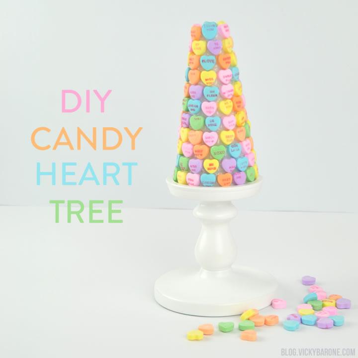 DIY Candy Heart Tree