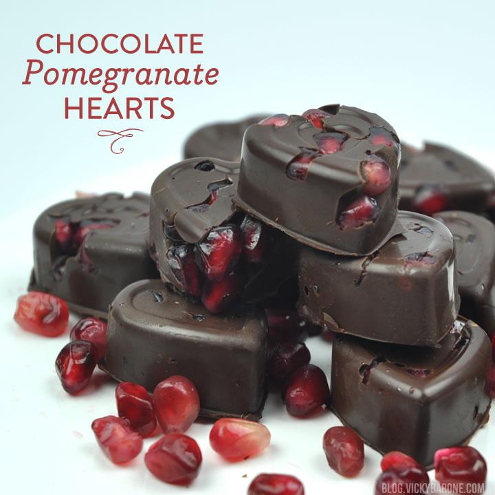 Dark Chocolate Pomegranate Hearts