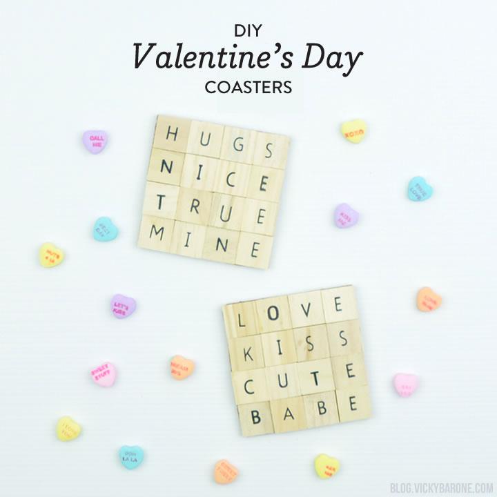 DIY Valentine's Day Coasters