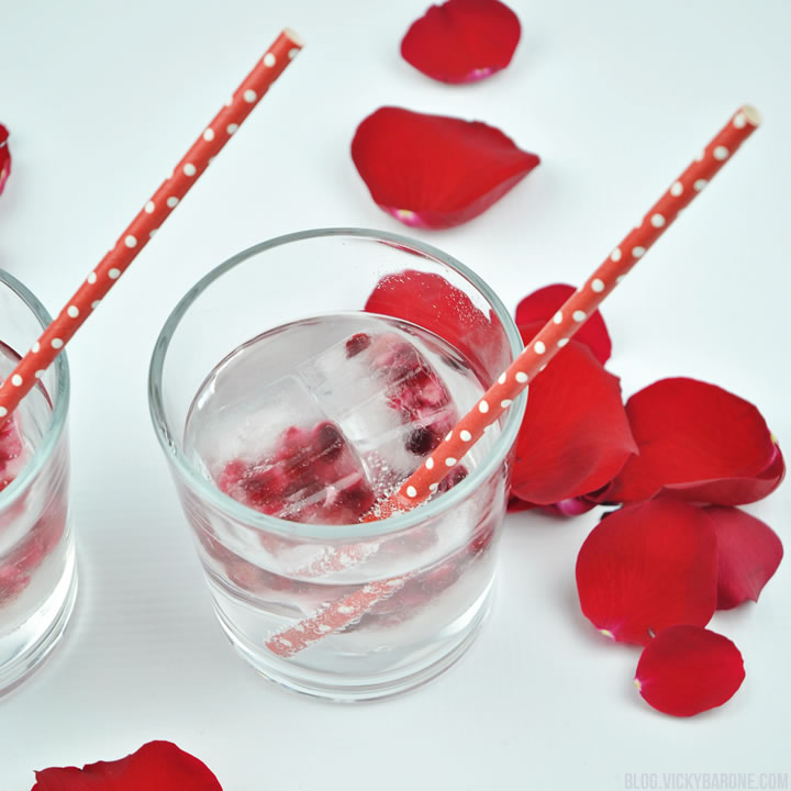 Pomegranate Seed Ice Heart Ice Cubes | Valentine's Day | Vicky Barone